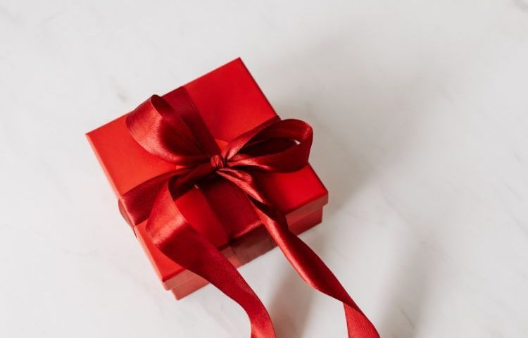 Corporate gift in red box
